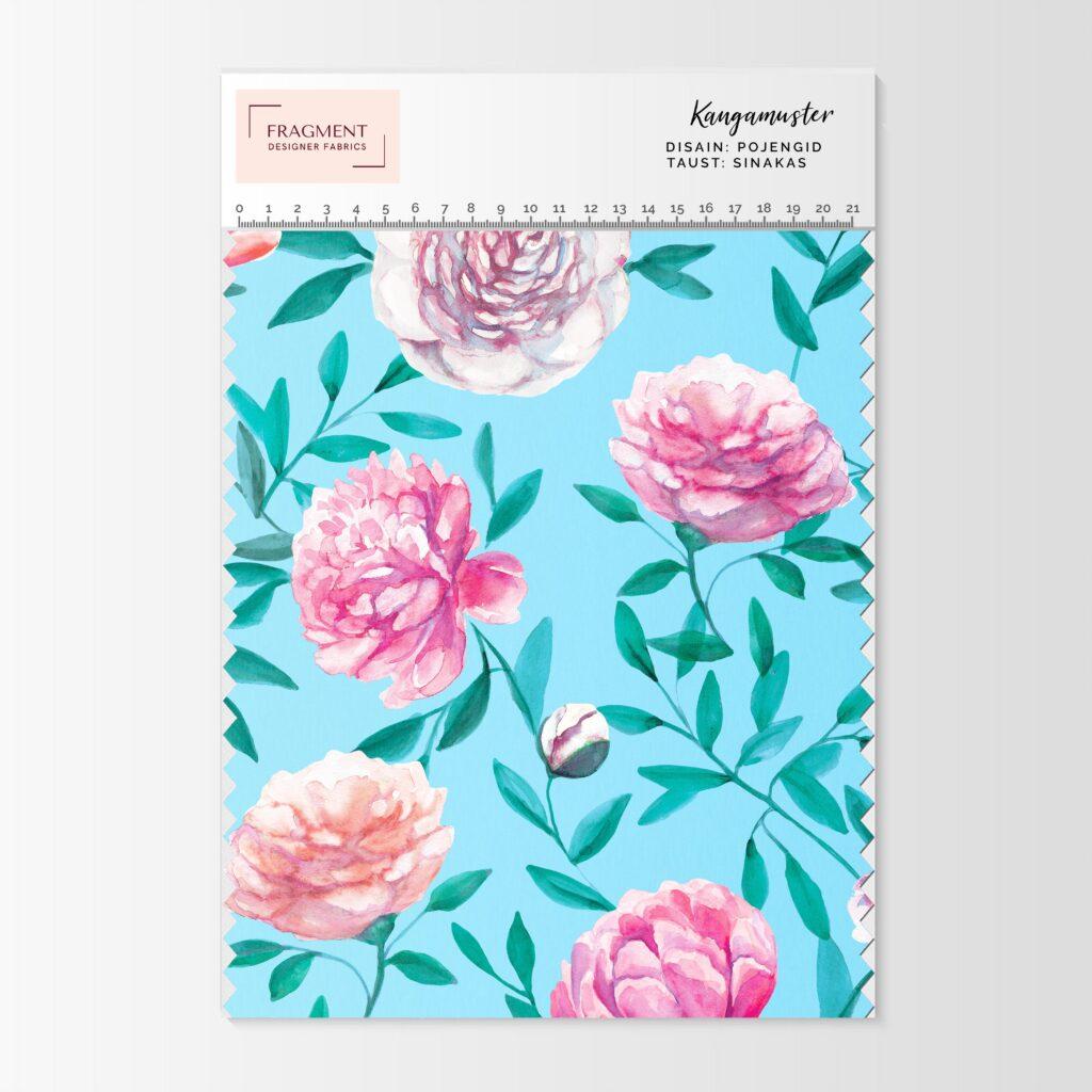 Pojengi mustriga trikotaaz Fragment Designer Fabrics