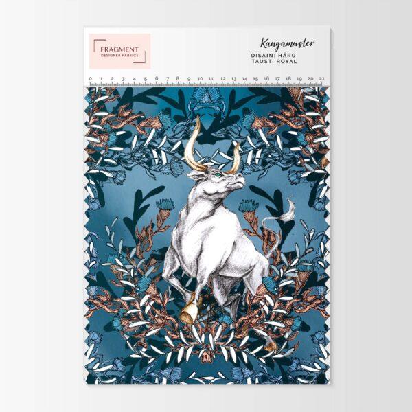 härja mustriga aasaline dressikangas Fragment Designer Fabrics